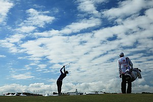 Michelle Wie during the first round of the 2014 Ricoh Women's British Open at Royal Birkdale Golf Club in Southport, England.