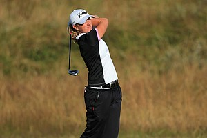 Stacy Lewis during the first round of the 2014 Ricoh Women's British Open at Royal Birkdale Golf Club in Southport, England.