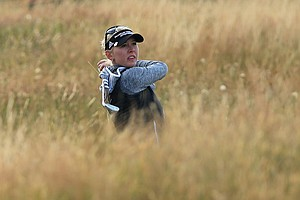 Jessica Korda during the second round of the 2014 Ricoh Women's British Open at Royal Birkdale Golf Club in Southport, England.