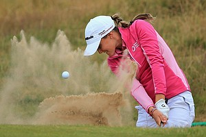 Lucy Williams during the second round of the 2014 Ricoh Women's British Open at Royal Birkdale Golf Club in Southport, England.