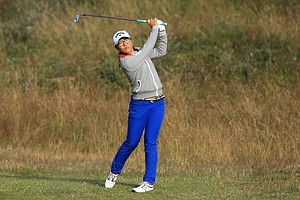 Lydia Ko during the second round of the 2014 Ricoh Women's British Open at Royal Birkdale Golf Club in Southport, England.