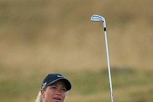 Suzann Pettersen during the second round of the 2014 Ricoh Women's British Open at Royal Birkdale Golf Club in Southport, England.