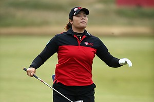 Ariya Jutanugarn during the third round of the 2014 Ricoh Women's British Open at Royal Birkdale Golf Club in Southport, England.