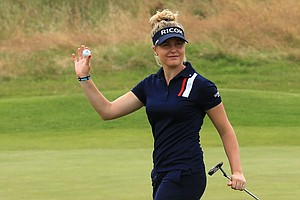 Charley Hull during the third round of the 2014 Ricoh Women's British Open at Royal Birkdale Golf Club in Southport, England.