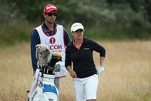 Mo Martin during the third round of the 2014 Ricoh Women's British Open at Royal Birkdale Golf Club in Southport, England.