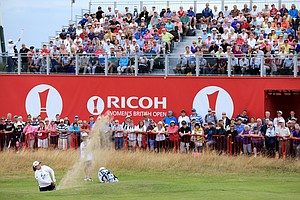 Sun Ju Ahn during the third round of the 2014 Ricoh Women's British Open at Royal Birkdale Golf Club in Southport, England.