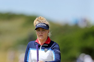 Charley Hull during Sunday's final round of the 2014 Women's British Open at Royal Birkdale.