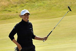 Mo Martin during Sunday's final round of the 2014 Women's British Open at Royal Birkdale.