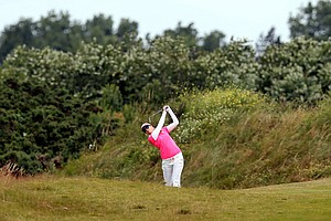 Paula Creamer during Sunday's final round of the 2014 Women's British Open at Royal Birkdale.