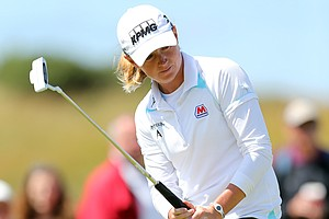 Suzann Pettersen during Sunday's final round of the 2014 Women's British Open at Royal Birkdale.