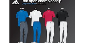 Adidas Golf staffers scripted apparel for 2014 Open Championship