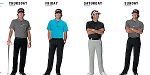 Bubba Watson's apparel for 2014 British Open