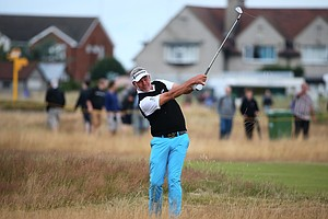 Darren Clarke during Wednesday's practice round of the 2014 Open Championship at Royal Liverpool.