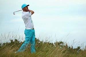Graham DeLaet during Wednesday's practice round of the 2014 Open Championship at Royal Liverpool.