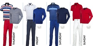 Keegan Bradley's apparel for 2014 Open Championship