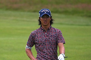 Ryo Ishikawa during Wednesday's practice round of the 2014 Open Championship at Royal Liverpool.