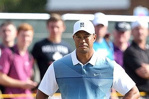 Tiger Woods during Thursday's first round of the Open Championship at Royal Liverpool.