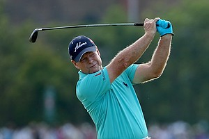 Tom Watson during the first round of the Open Championship at Royal Liverpool.