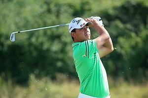Ashun Wu during Friday's second round of the 2014 British Open at Royal Liverpool.