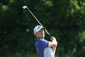 Jonas Blixt during Friday's second round of the 2014 British Open at Royal Liverpool.