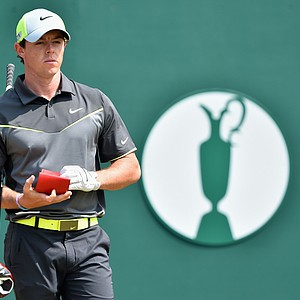 Rory McIlroy during Friday's second round of the 2014 British Open at Royal Liverpool.