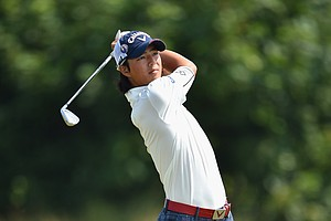 Ryo Ishikawa during Friday's second round of the 2014 British Open at Royal Liverpool.