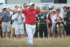 Sergio Garcia during Friday's second round of the 2014 British Open at Royal Liverpool.