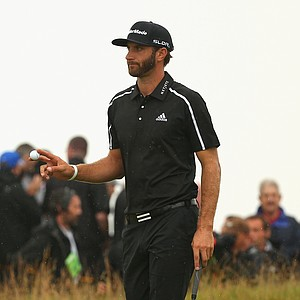 Dustin Johnson during Saturday's third round of the 2014 British Open at Royal Liverpool.