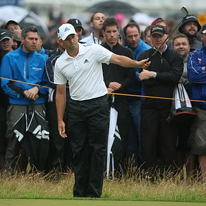 Sergio Garcia during Saturday's third round of the 2014 British Open at Royal Liverpool.