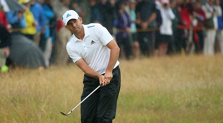 Sergio Garcia will be in the penultimate pairing on Sunday with Dustin Johnson at the 2014 British Open.