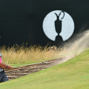 Rory McIlroy during his 2014 British Open championship at Royal Liverpool in Hoylake, England.