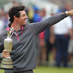 Rory McIlroy after his 2014 British Open championship at Royal Liverpool in Hoylake, England.