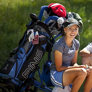 Dominique Galloway during Monday's first round of the USGA's 2014 U.S. Girls' Junior Championship at at Forest Highlands Golf Club in Flagstaff, Ariz.