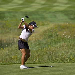 Mika Liu during Monday's first round of the 2014 U.S. Girls Junior Championship at Forest Highlands Golf Club in Flagstaff, Ariz.