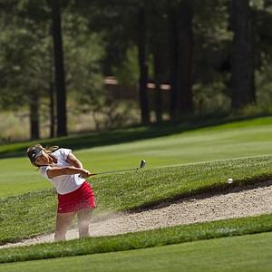 Michelle Kim during Monday's first round of the 2014 U.S. Girls Junior Championship at Forest Highlands Golf Club in Flagstaff, Ariz.