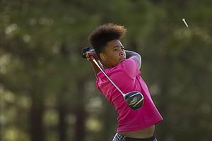 Anita Uwadia during Monday's first round of the USGA's 2014 U.S. Girls' Junior Championship at at Forest Highlands Golf Club in Flagstaff, Ariz.