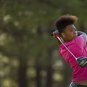 Anita Uwadia during Monday's first round of the USGA's 2014 U.S. Girls' Junior Championship at at Forest Highlands Golf Club in Flagstaff, Ariz.