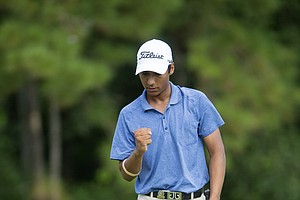 Priyanshu Singh during the first round of the 2014 U.S. Junior Amateur on Monday at The Club at Carlton Woods in The Woodlands, Texas.