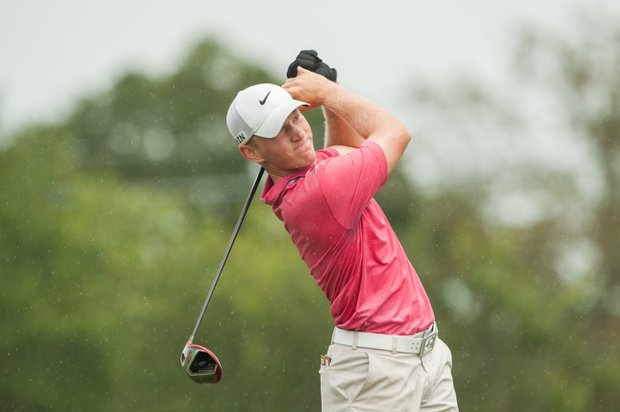 Brad Dalke during the first round of the Junior PGA Championship at Miramont Country Club in Bryan, Texas.