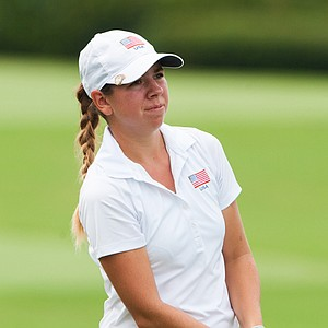 Kristen Gillman during the first round of the 2014 Junior PGA Championship at Miramont Country Club in Bryan, Texas.