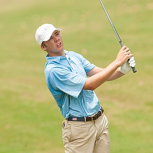 Sam Burns during the first round of the Junior PGA Championship at Miramont Country Club in Bryan, Texas.