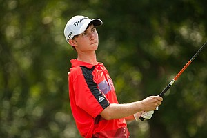 Austin Connelly during the second round of the 2014 Junior PGA Championship at Miramont Country Club in Bryan, Texas.