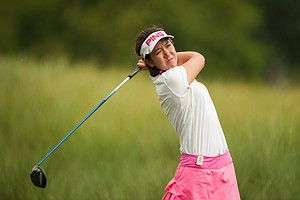 Hannah O'Sullivan during the third round of the 2014 Junior PGA Championship at Miramont Country Club in Bryan, Texas.