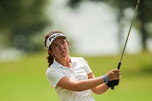 Hannah O'Sullivan during the second round of the 2014 Junior PGA Championship at Miramont Country Club in Bryan, Texas.