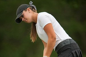 Kelly Whaley during the third round of the 2014 Junior PGA Championship at Miramont Country Club in Bryan, Texas.