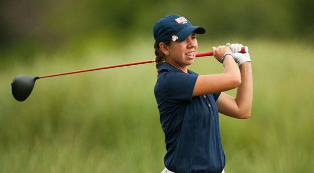 Kristen Gillman during the third round of the 2014 Junior PGA Championship at Miramont Country Club in Bryan, Texas.