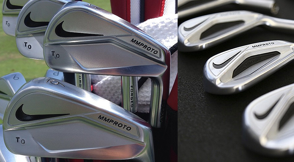 Images of Nike MMProto irons posted by Thorbjorn Olesen (left) and Nike (right).