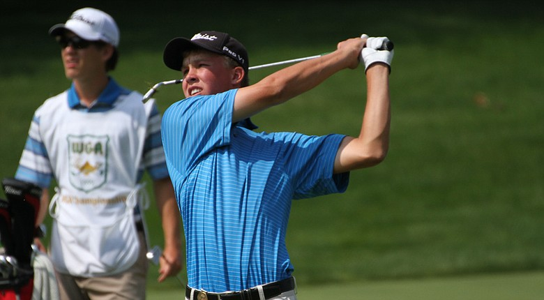 Nick Hardy won both his Sweet 16 and quarterfinal match of the Western Amateur on Friday.