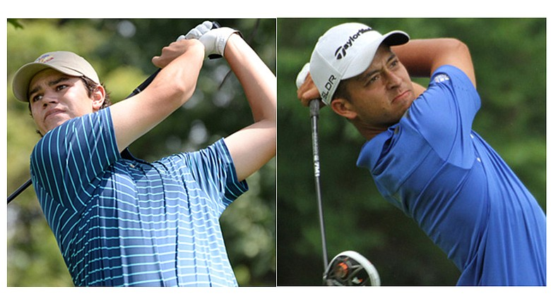 Beau Hossler (left) and Xander Schauffele will meet in the 2014 Western Amateur final Saturday afternoon.
