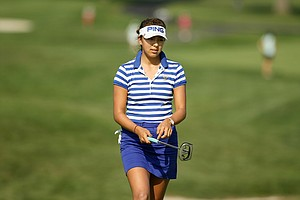 Alison Lee at the 2014 U. S. Women's Amateur at Nassau Country Club in Glen Cove, N. Y.